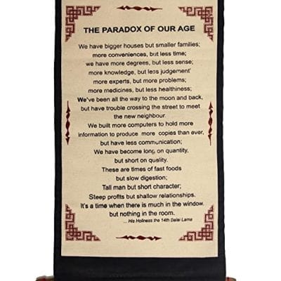 Dalai Lama wall hanging canva